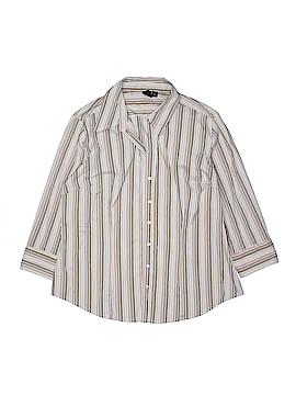 Milano 3/4 Sleeve Button-Down Shirt Size XL