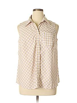 Evan Picone Sleeveless Button-Down Shirt Size 16W