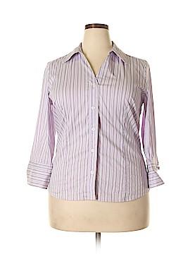 Alfani 3/4 Sleeve Button-Down Shirt Size 16