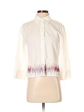 AK Anne Klein 3/4 Sleeve Button-Down Shirt Size P (Petite)