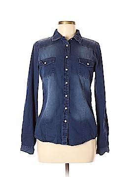 YMI Long Sleeve Button-Down Shirt Size M