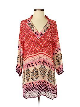 Tolani 3/4 Sleeve Silk Top Size S