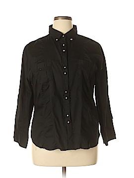 Miamia Long Sleeve Button-Down Shirt Size 2X (Plus)