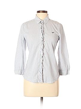 Hollister 3/4 Sleeve Button-Down Shirt Size L