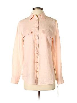 Go Silk Long Sleeve Button-Down Shirt Size S