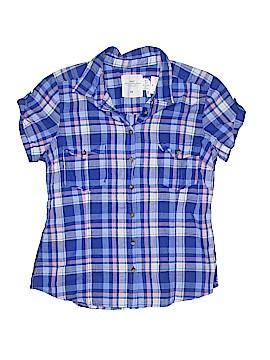 H&M Short Sleeve Button-Down Shirt Size 14