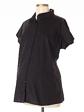 Oh! Mamma Short Sleeve Button-Down Shirt Size XL (Maternity)