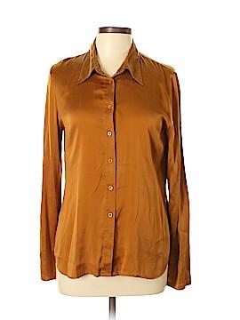 Moda International Long Sleeve Silk Top Size L