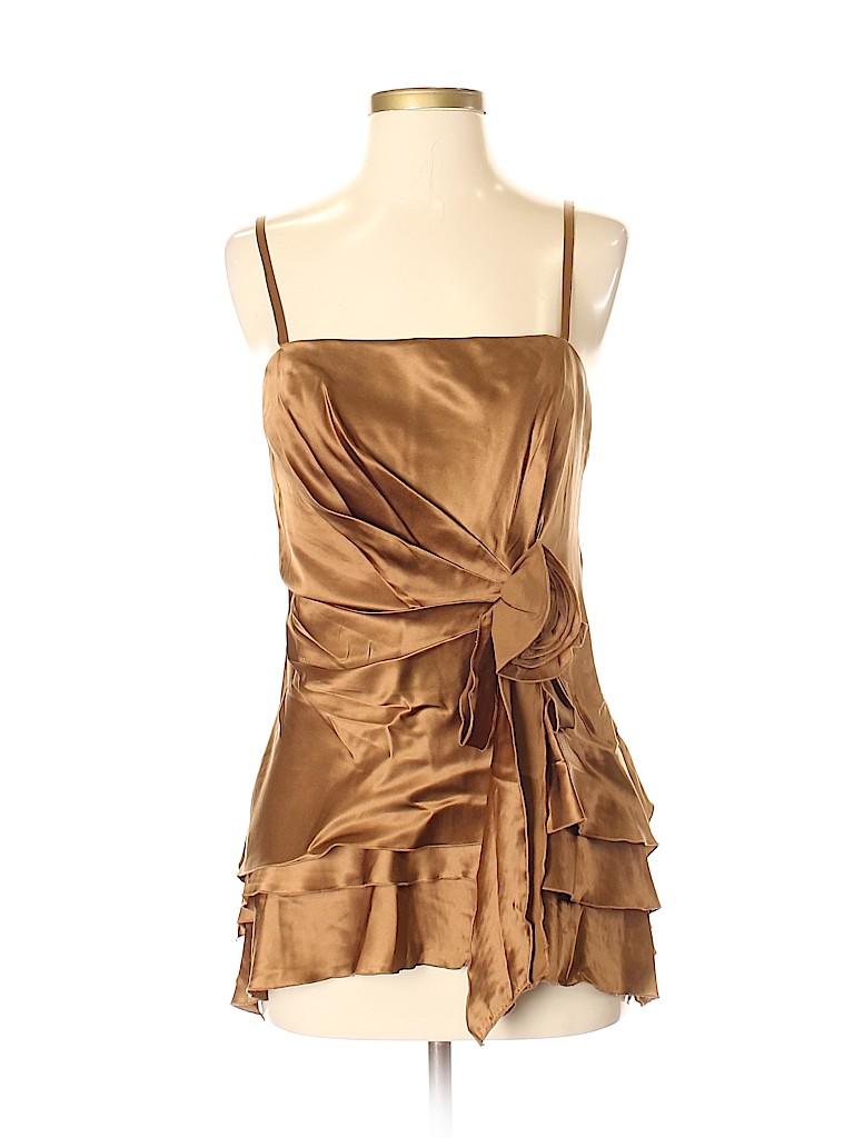 Citrine Collection Women Sleeveless Silk Top Size 8