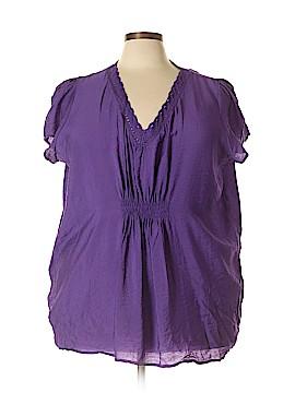 Milano Short Sleeve Blouse Size 3X (Plus)