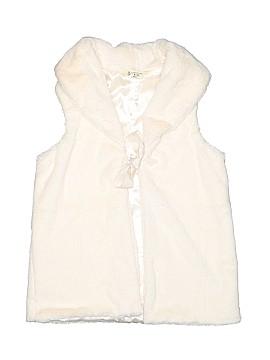 Lands' End Faux Fur Vest Size 10 - 12