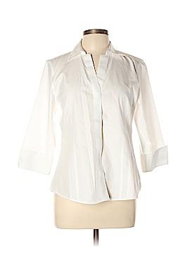 Foxcroft 3/4 Sleeve Button-Down Shirt Size 12 (Petite)