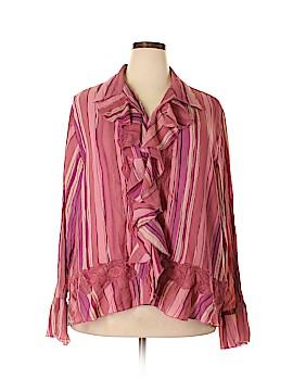 S.L.B. Long Sleeve Blouse Size 2X (Plus)