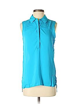 Olive and Oak Sleeveless Button-Down Shirt Size XS
