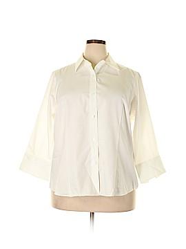 Jones New York 3/4 Sleeve Button-Down Shirt Size 2X (Plus)