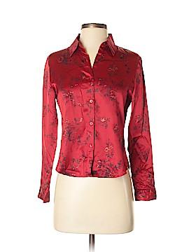 Petite Sophisticate Long Sleeve Silk Top Size 2