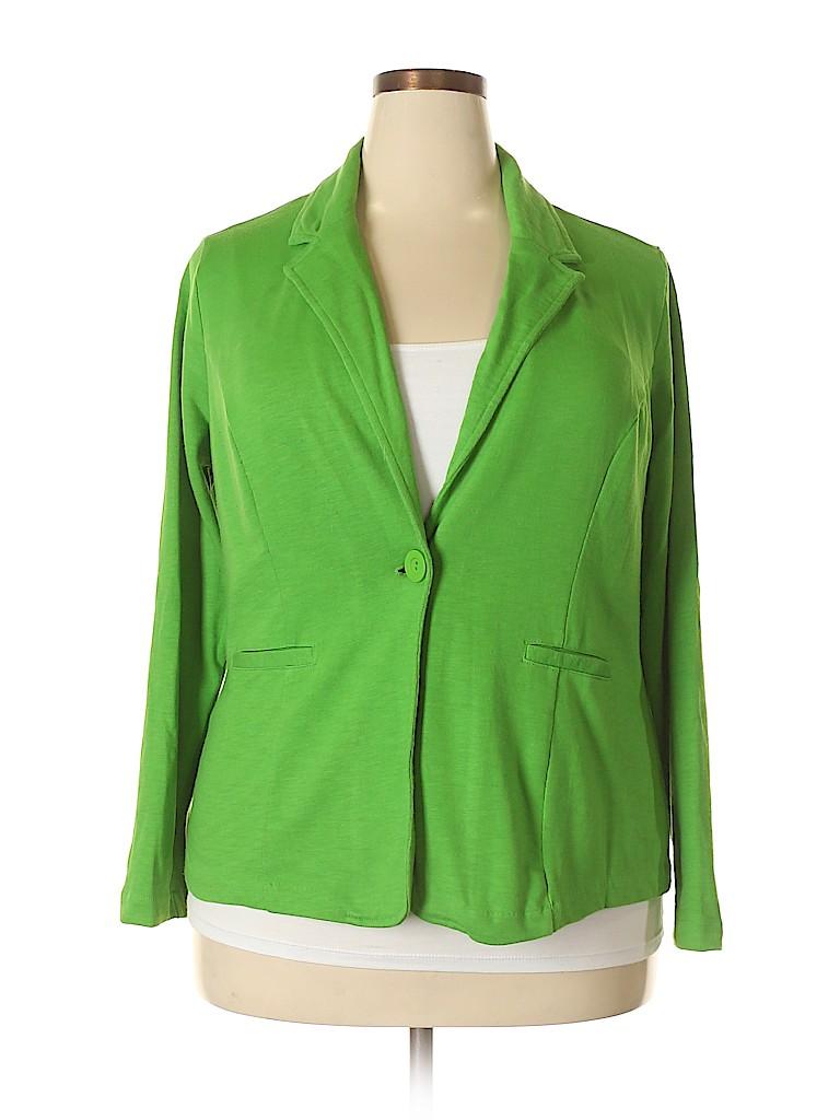 0a7c293c76f Cato Solid Green Blazer Size 18 (Plus) - 62% off