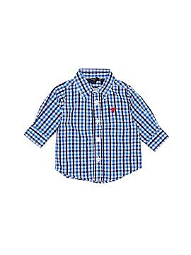 Wrangler Jeans Co Long Sleeve Button-Down Shirt Size 0-3 mo