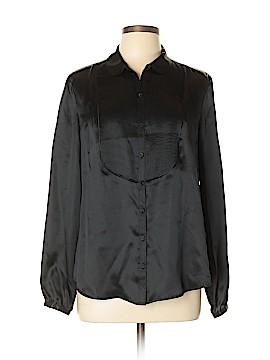 Liz Claiborne Long Sleeve Silk Top Size L