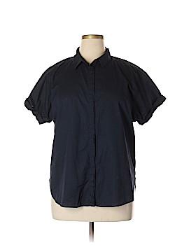 H&M L.O.G.G. Short Sleeve Button-Down Shirt Size 14