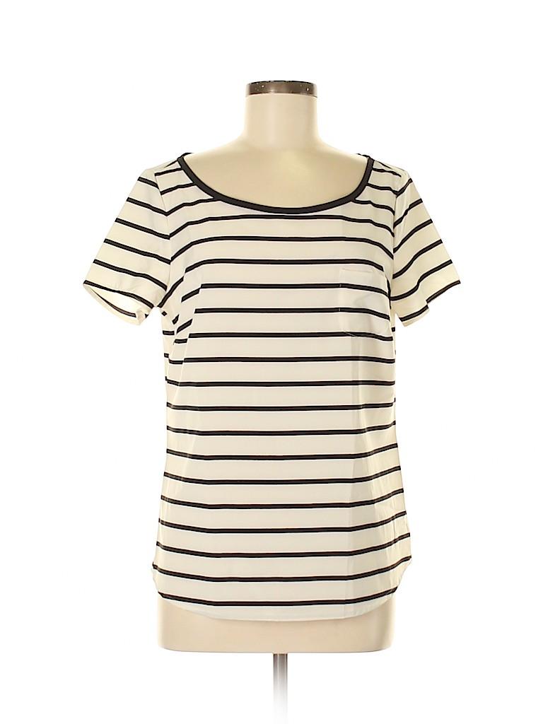 Lands' End Women Short Sleeve Blouse Size 10