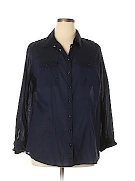 Covington Long Sleeve Button-Down Shirt Size 18 (Plus)