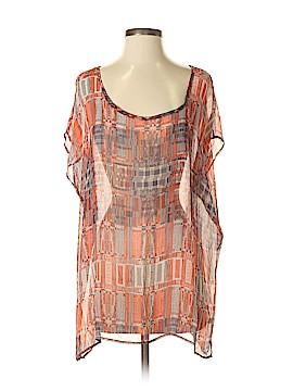 SJOBECK Short Sleeve Silk Top Size S