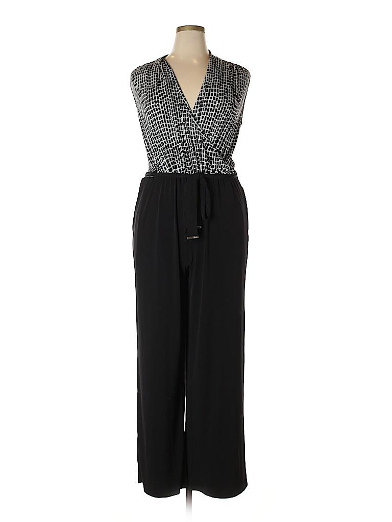 626f7f3ef0d1 Calvin Klein Print Black Jumpsuit Size 16 - 48% off