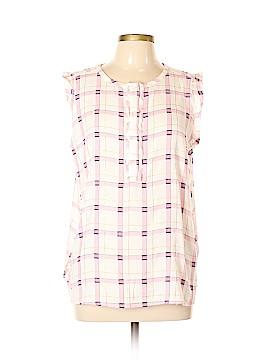 Ann Taylor LOFT Sleeveless Button-Down Shirt Size L