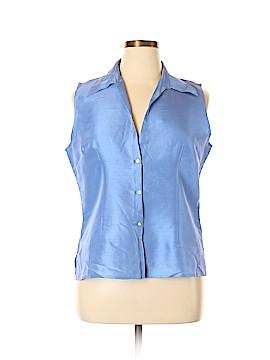 Robbie Bee Sleeveless Silk Top Size XL