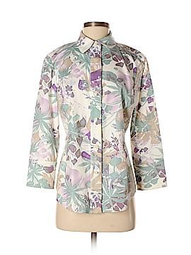 Linda Allard Ellen Tracy 3/4 Sleeve Button-Down Shirt Size 8