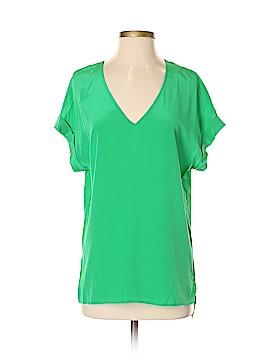 Lavender Brown Short Sleeve Silk Top Size S