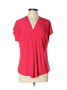 Roz & Ali Short Sleeve Top Size L