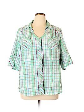 Venezia 3/4 Sleeve Button-Down Shirt Size 22 - 24 Plus (Plus)