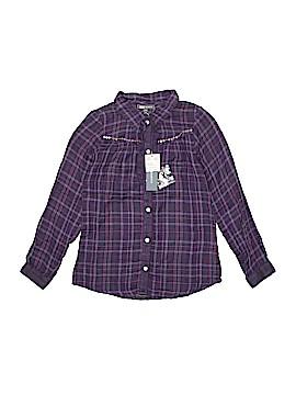 Kids Graffiti Long Sleeve Button-Down Shirt Size 10