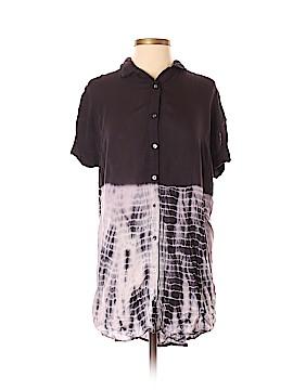En Creme Short Sleeve Button-Down Shirt Size S