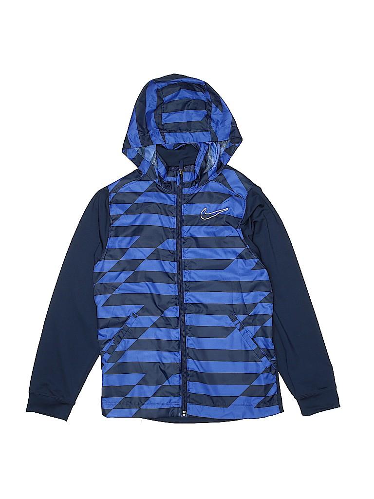 Nike Golf 100% Polyester Color Block Navy Blue Windbreaker Size S ... 53409d83b