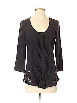 La Rok 3/4 Sleeve Silk Top Size S
