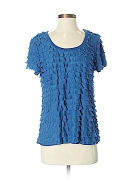 Slinky Brand Short Sleeve Blouse Size M