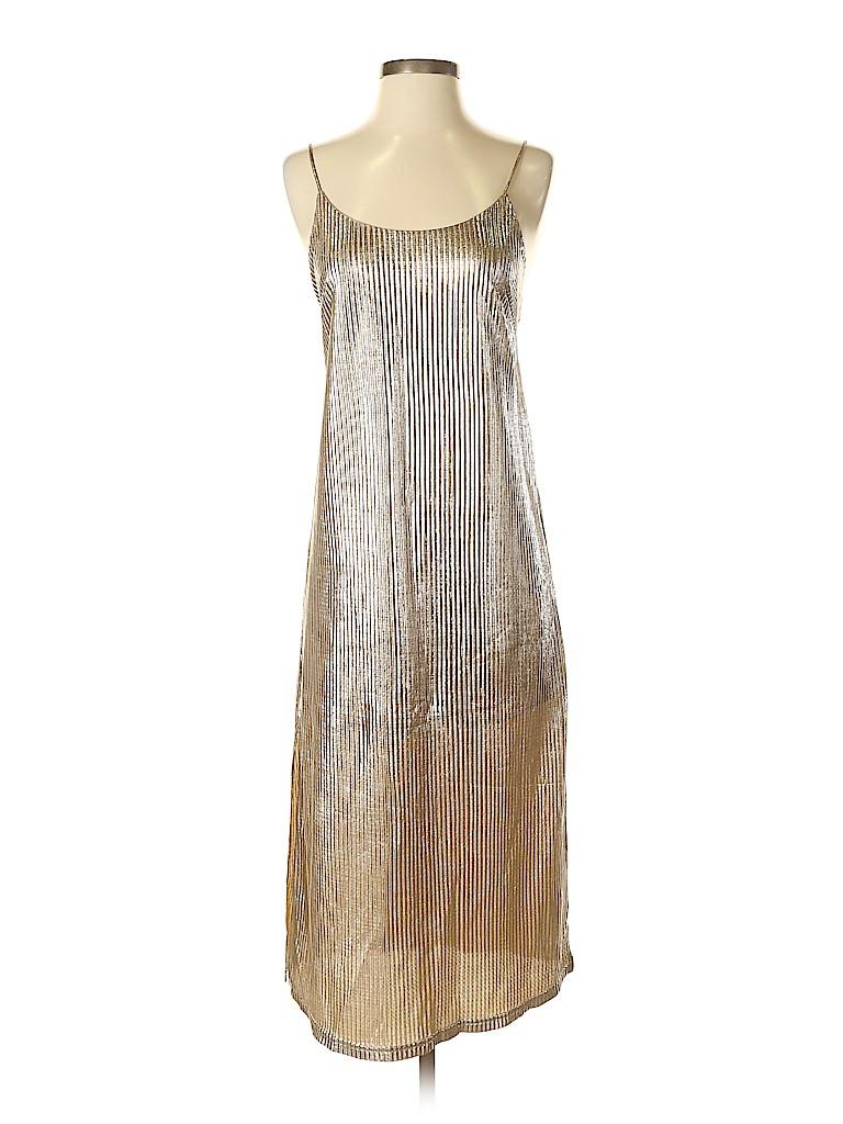 97f51e4c52e Kimchi Blue 100% Polyester Metallic Gold Cocktail Dress Size XS - 65 ...