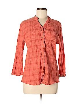Woolrich 3/4 Sleeve Button-Down Shirt Size L