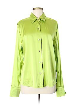 Linda Allard Ellen Tracy Long Sleeve Silk Top Size M