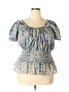 Lauren Jeans Co. Short Sleeve Blouse Size 3X (Plus)