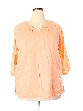 Denim Co 3/4 Sleeve Blouse Size 2X (Plus)