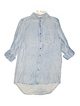 BLVD Long Sleeve Button-Down Shirt Size L