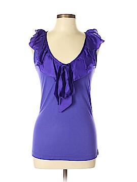 Aqua Sleeveless Silk Top Size L