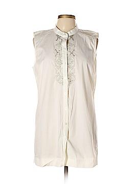 Dana Buchman Short Sleeve Button-Down Shirt Size L