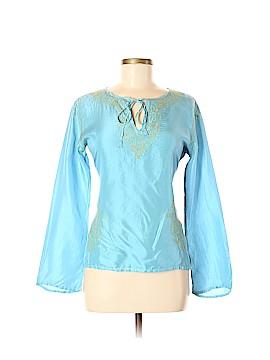 Matta Long Sleeve Silk Top Size M