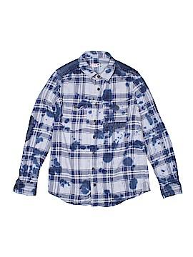 Cat & Jack Long Sleeve Button-Down Shirt Size 12 - 14