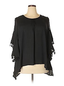 Melissa McCarthy Seven7 Short Sleeve Blouse Size 3X (Plus)